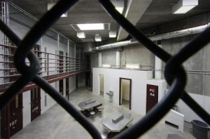 The interior of an unoccupied communal cellblock is seen at Camp VI, a prison used to house detainees at the U.S. Naval Base at Guantanamo Bay, March 5, 2013. Credit: Reuters/Bob Strong