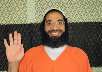 Shaker Aamer in Guantanamo, in a photo made available by his family in 2012, before the hunger strike began.