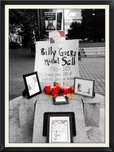 Hunger-Striker-Billy-Sell-altar-made-by-Dendron-Utter-Oscar-Grant-Plaza-073013-by-Molly-Batchelder